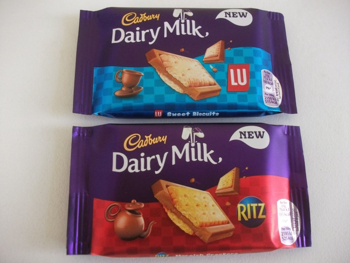 cadbury dairy milk with ritz crackers & lu biscuits