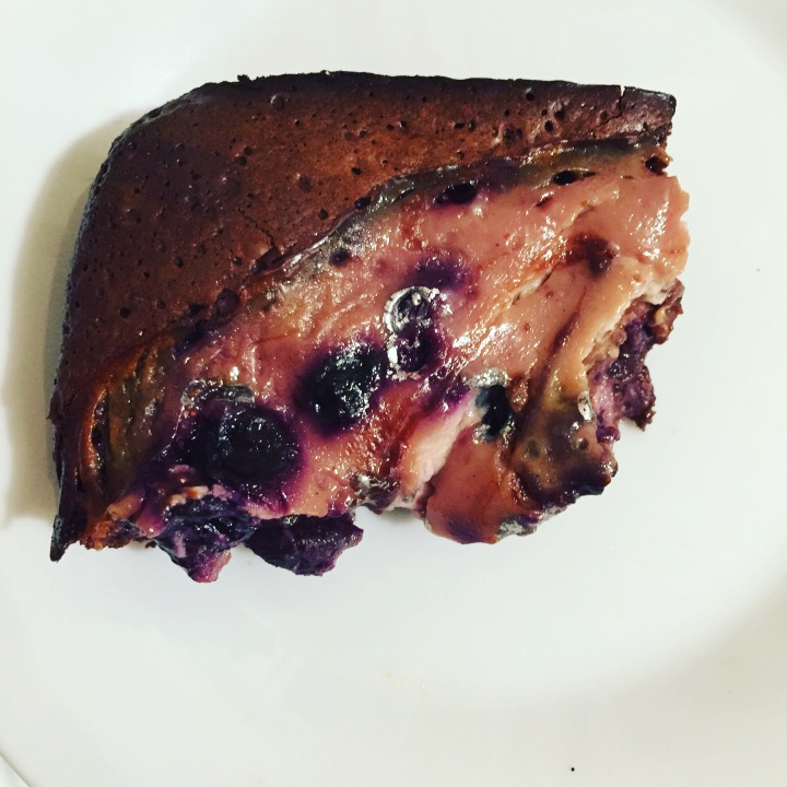 Blueberry yogurt swirl brownies (dairy and gluten free!)