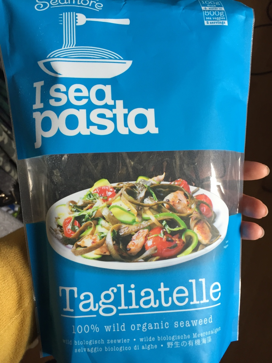 Seamore pasta. Sustainable. Gluten free.