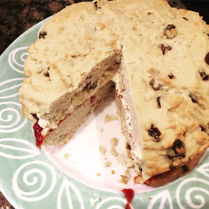 Giant scone cake